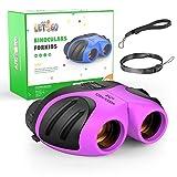 EUTOYZ Regalos de niña Edad 5-8, Shock Binoculares compactos para niños 3-12 años Niña Juguetes púrpura