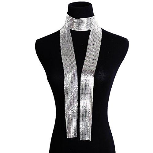 iKulilky Damen Persönlichkeit einfache Lange Aluminium Kette Schmuck Mode Schal Halskette