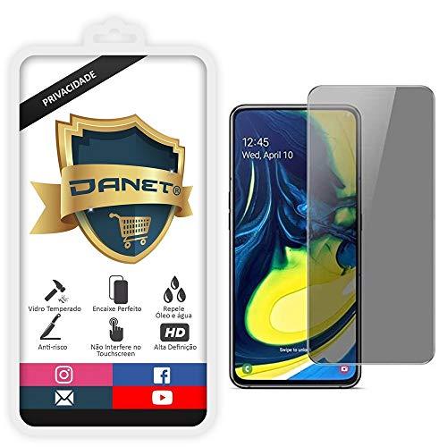 Película De Privacidade em Vidro Temperado Para Samsung Galaxy A80 com Tela de 6.7 Proteção Anti Impacto E Curioso Top Spy Premium - Danet