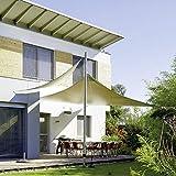 CelinaSun 0010470 Sonnensegel Sonnenschutz Garten | UV Schutz wetterbeständig HDPE atmungsaktiv | Dreieck 3 x 3 x 3 m sand-beige - 4