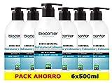 Crema Corporal ecológica Hidratante y Calmante - 6 unidades de 500 ml en plástico reciclado - Biocenter