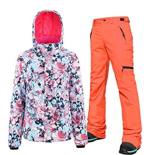 Dameskostuum, ski-jack, thermische broek, set, sneeuwbroek, winddicht, snowboardjas, waterdicht, geschikt voor snowboarden, bergbeklimmen