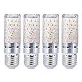 Paquete de 4 Bombillas LED E27 Cornlight 80LED 1600LM Reemplazo Equivalente a 16W Bombilla incandescente de 120W SMD 2835 Blanco frío/Blanco cálido 85-265V (Color: Dorado, Tamaño: Blanco frío)