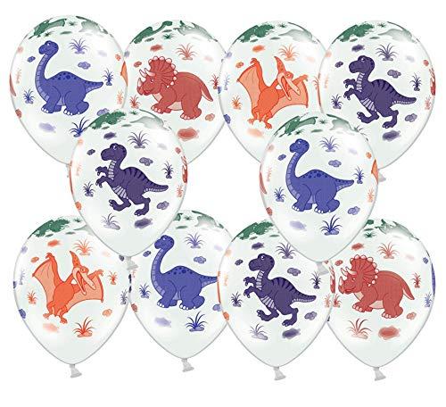 Libetui 10 Bunte Luftballons Dino Dinosaurier Deko Geburtstag Dino Kindergeburtstag Dinoparty Prehistoric Party 30cm