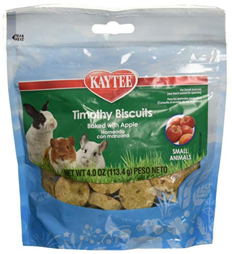 Kaytee (6 Pack) Timothy Hay Baked Apple Small Animal Treats, 4-Ounce