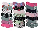 Unbekannt 10 Paar Mädchen Thermo Winter Socken Größe 23-35 (23-26)