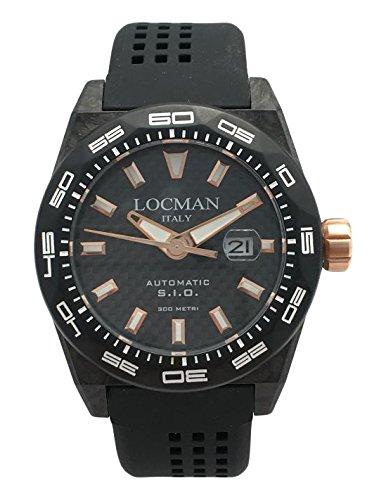 Locman Herren Datum klassisch Quarz Uhr mit Gummi Armband 216V4CBCB5N0S2
