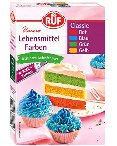 RUF Lebensmittelfarben Classic 4 Tuben, 80 g
