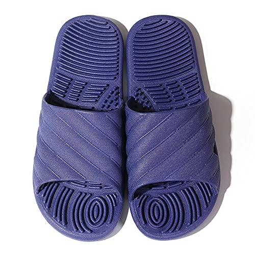 Zapatillas de Masaje Salud Masaje,Zapatillas de masaje de acupuntura para pies, zapatillas de plástico antideslizantes para la parte inferior del pie-Azul a_40-41,Zapatillas de masaje de pies uni