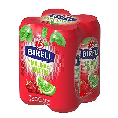 Birell Limetka & malina Erfrischendes alkoholfrei Radler mit Limette und Himbeere Geschmack (4 x 500ml) EU Dosenbier