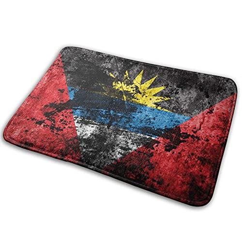 FONSMAY Teppich für den Innenbereich, Antigua & Barbuda-Flagge auf schmutzigem Papier Weicher gemütlicher waschbarer Teppich für Zuhause, Wohnzimmer, Wohnkultur