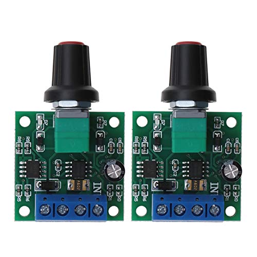 Controlador de velocidad de motor PWM DC de bajo voltaje DC 1.8V 3V 5V 6V 12V 2A 1803BK módulo regulador de motor ajustable interruptor con perilla de control