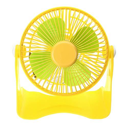 Ventilador de enfriamiento de 7 Pulgadas Recargable 5V Hoja DE Aluminio USB FANTING MANEJA Handy Small DE ESPERATORIO MINITILICIDAD ShenZhenShiXiangXiDengShiZhaoMingYouXian (Color : Yellow)