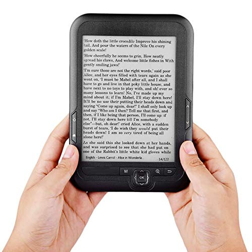 T-XYD Ebook Reader Tragbarer Reader Nook 6-Zoll-Ink-Bildschirm E-Book Unterstützt Multi-Format Reader HD Display 4G / 8G / 16G,4GB