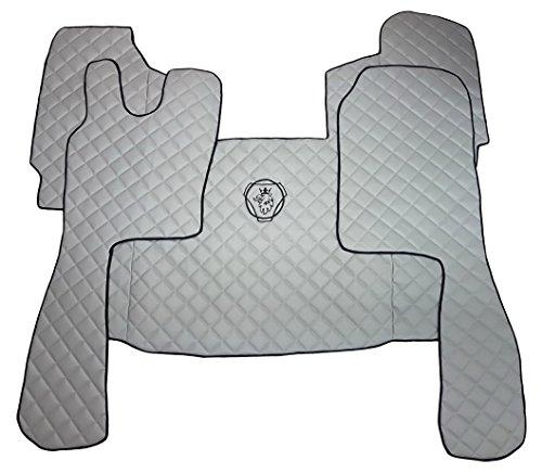 Juego de alfombrillas de mano izquierda para el suelo de la alfombra para camión automático y SEMI automático caja de cambios accesorios decoración gris Eco cuero