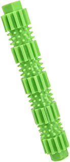 POEwjCCk Dog Chew Stick Dog Toothbrush Stick Aggressive Chewer Treat Dispenser Rubber Pet Teeth Cleaning Toy Natural Rubber Bite Resistant Chew Toys for Dogs Pets Green S