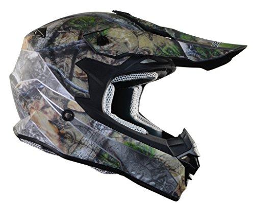 Vega Helmets VF1 Lightweight Dirt Bike Helmet – Off-Road Full Face Helmet for ATV Motocross MX Enduro Quad Sport, 5 Year Warranty (Skull Camo, Medium)