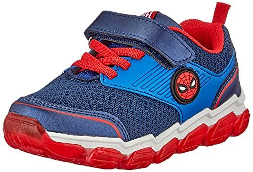 CERDÁ LIFE'S LITTLE MOMENTS Cerdá-Zapatillas Luminosas de Spiderman de Color Azul, Gris Perla, 25 EU