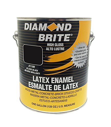 Diamond Brite Paint 80100 1-Gallon Latex Gloss Enamel, Black