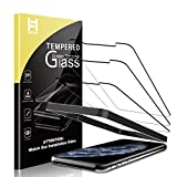 HATOSHI 3 Pack Screen Protector Compatible for iPhone 11 Pro Max and iPhone XS Max Tempered Glass - Alignment Tray Easy Installation Case Friendly HD Clarity 9H Glass Screen Protector 6.5 Inches