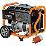 Generac GP3300 Portable Generator - 3750 Surge Watts, 3300 Rated Watts, EPA and CARB Compliant, Model Number 6432