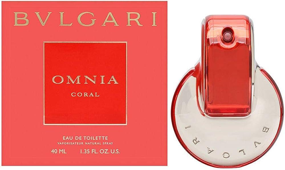 Bvlgari omnia coral, eau de toilette per donna, 40 ml 42100