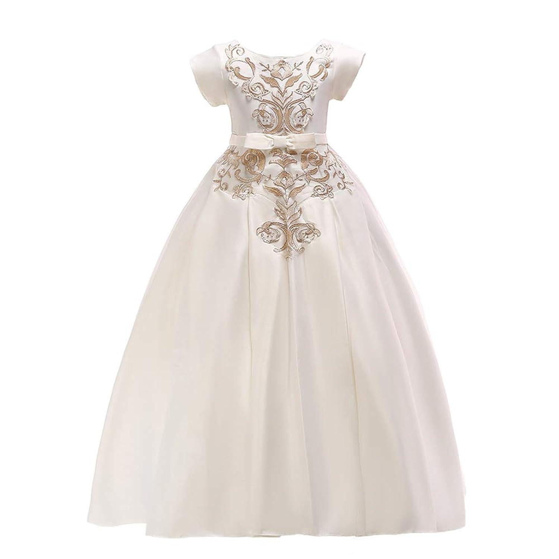 Paisdola 女の子のページェント刺繍ウェディングドレスプリンセスウェディングドレス