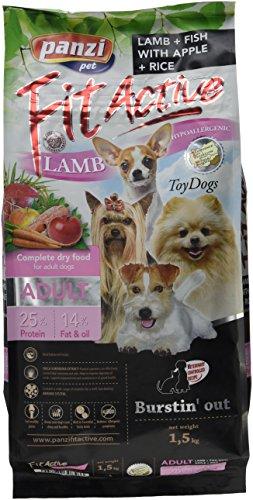 Panzi FitActive Premium hondenvoer, volwassenen, kleine honden, lams&vis, per stuk verpakt (1 x 1,5 kg)