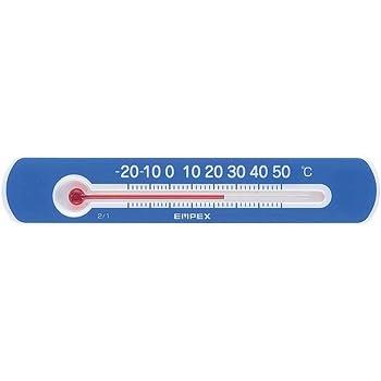 エンペックス気象計 温度計 マグネットサーモ・ミニ 横型 ブルー TG-2526