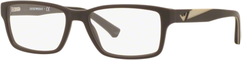 EMPORIO ARMANI Eyeglasses EA 3087 5509 Matte Brown 52MM