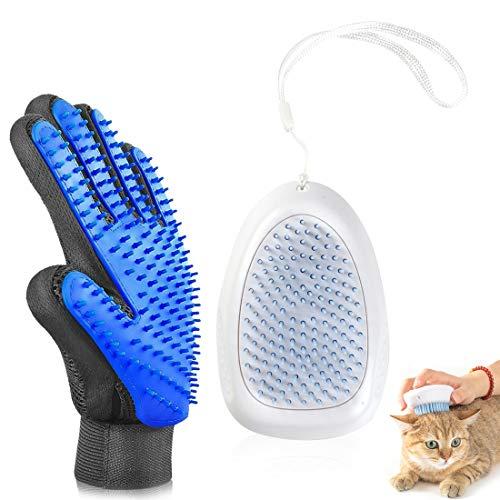 O-Kinee Haustierkamm,Hundebürste,Katzenbürste,Fellpflegehandschuh für Hund,Pet Grooming Brush,Waschbare Pflege Shedding Massage Badebürste für Langes und Kurzes Haar(A)
