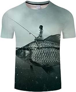 Casual Digital Fish 3D Print T Shirt Men Women Tshirt Summer Short Sleeve O-Neck Tops