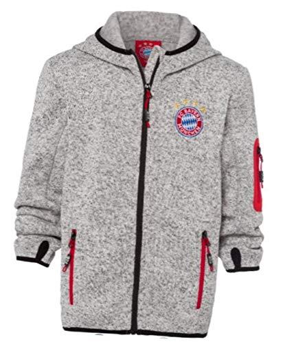 Bayern MÜNCHEN kompatibel Strickfleecejacke Kids + Sticker München Forever, FCB, Jacke Funktionsfleecejacke Fleecejacke Kinderjacke (164)