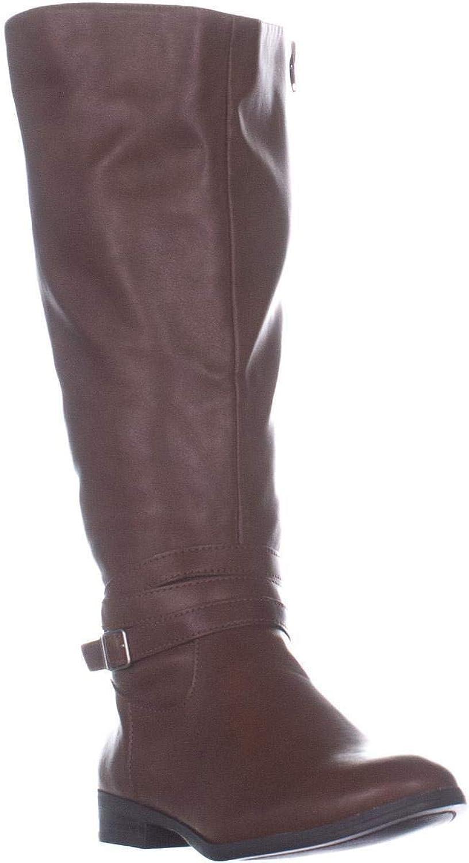 Style & Co. Womens Keppur Wide Calf Riding Boots Brown 5.5 Medium (B,M)