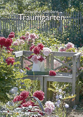 Traumgärten 2021 - Wand-Kalender - A&I - 29,7x42 - Garten-Kalender: Beautiful Gardens