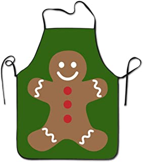 Unisex Gingerbread Man Merry Christmas Kitchen Apron Cooking Cafe Apron