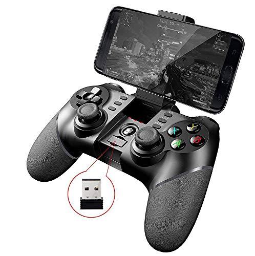 Myfei 9076 + 2.4G Wireless Gamepad inalámbrico para Samsung Galaxy S9 / S9 + Google opo Vivo de los Dispositivos Android Smartphone Tablet TV para PS3