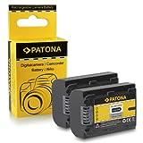 PATONA 2X Bateria NP-FH50 Compatible con Sony CyberShot DSC-HX1 HX200V DSLR Alpha 230 A330 A380 A390 DCR-DVD Series