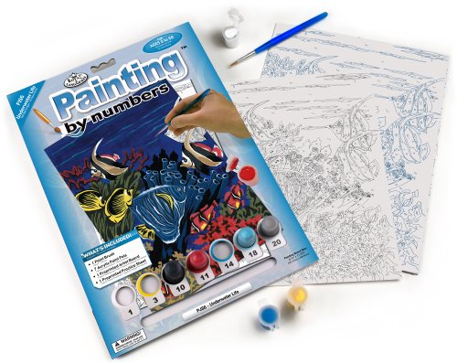 Royal & Langnickel Painting by Numbers Junior Small Art Activity Kit, All Underwater Life