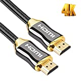 High Speed HDMI Cable, 4K HDMI Cable 5ft HDMI 2.0 Cable 1080P, Nylon Braided Cover Supports Ethernet, 4K, Ultra HD, 3D, HDR, Audio Return Channel for PC, 3D TV, Xbox 360, PS3, PS4 ect