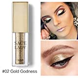 Allbestaye Glitter Liquid Lidschatten Diamond Shimmer Makeup Illuminator Glow Metallic Highlighter...