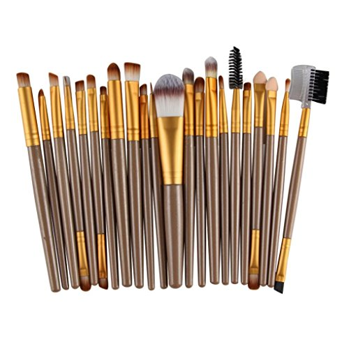 MRULIC 22PCMakeup Bürsten Pinsel Schminkpinsel Kosmetikpinsel Make Up Pinsel Kosmetik Set (Gold)