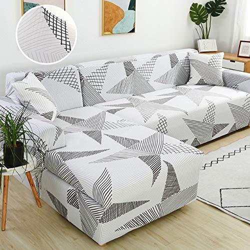 uyeoco Funda Elástica de Sofá Funda Estampada para sofá Antideslizante Protector Cubierta de Muebles (Color : N, Size : 3-Sitzer (190-230 cm))