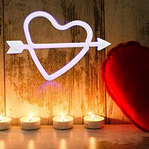 Germerse Lámpara de Pared, luz Colgante de Pared en Forma de corazón para Dormitorio(Purple)