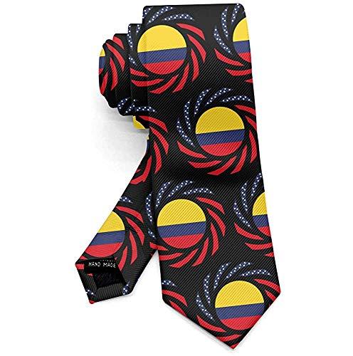 Herren Polyester Textil Krawatten Kolumbianische Flagge Krawatten