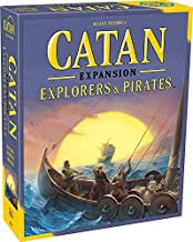 Catan Explorers and Pirates Board Game Expansion   Board Game for Adults and Family   Adventure Board Game   Ages 12+   for 3 to 4 Players   Average Playtime 90 Minutes   Made by Catan Studio