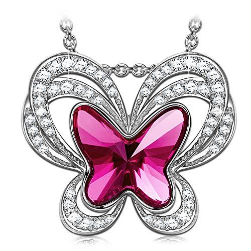 Kate Lynn Collar Regalo del día de la Madre Hada Mariposa Collar Mujer Pendiente Moda Cristal...