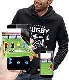 PIXEL EVOLUTION Sweat à Capuche 3D Rugby Toulon en Réalité Augmentée Homme - Taille L - Noir