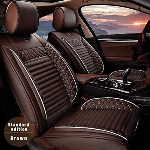 8X-SPEED Coprisedili Auto Anteriori per Jeep Compass Guidatore e Passeggero Pelle Copri-Sedile,Compatibili Airbag,Morbido e Confortevole,Marrone