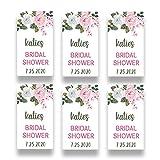 Personalized Pink Rose Favor Sticker for 2 Ounce Bottles | Set of 20 Customized Pink Floral Bridal Shower Favor Labels | Party Favor Stickers for Plastic Bottles (RSL101)